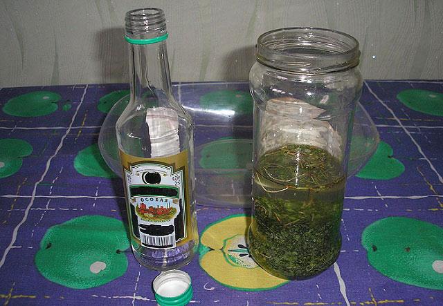 спиртовая настойка на травах пикульника, хвоща полевого и горца птичьего