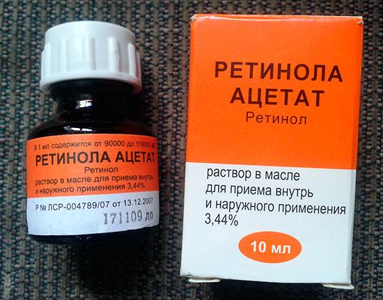 Ретинола ацетат форма выпуска