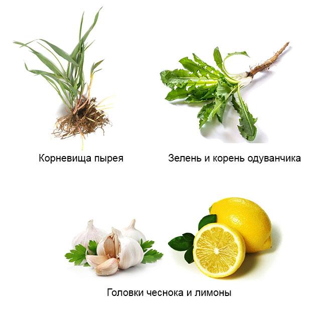 ингредиенты для народных рецептов от артрита