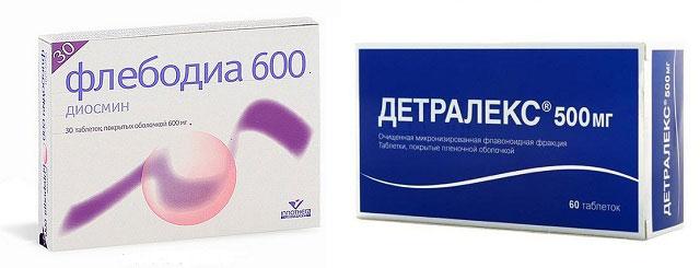 препараты Флебодиа и Детралекс