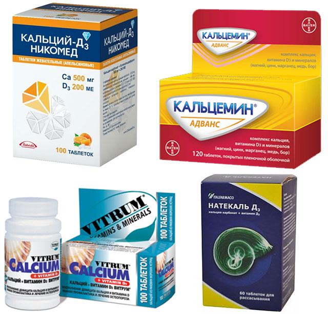 препараты с содержанием кальция