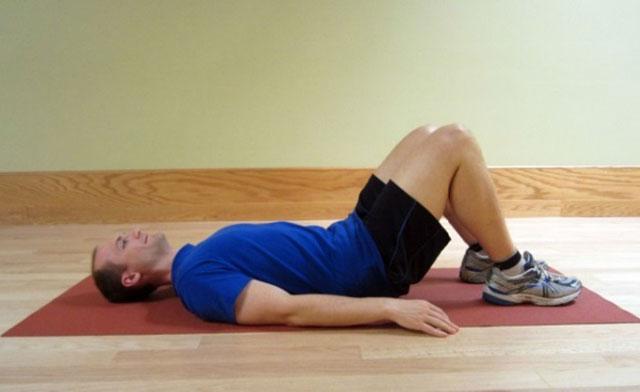 упражнение с подъемом таза, часть 1