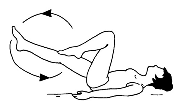 упражнение для коленных суставов лежа на спине