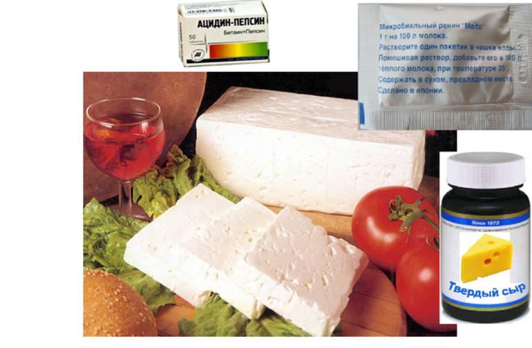 Ацидин-пепсин для сыра
