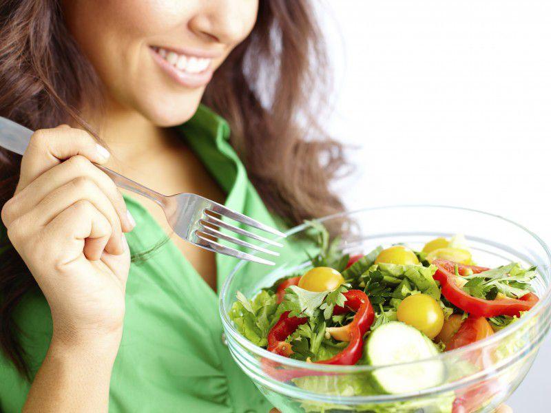 Салат в меню при увеличенной печени