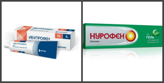 гели, содержащие ибупрофен