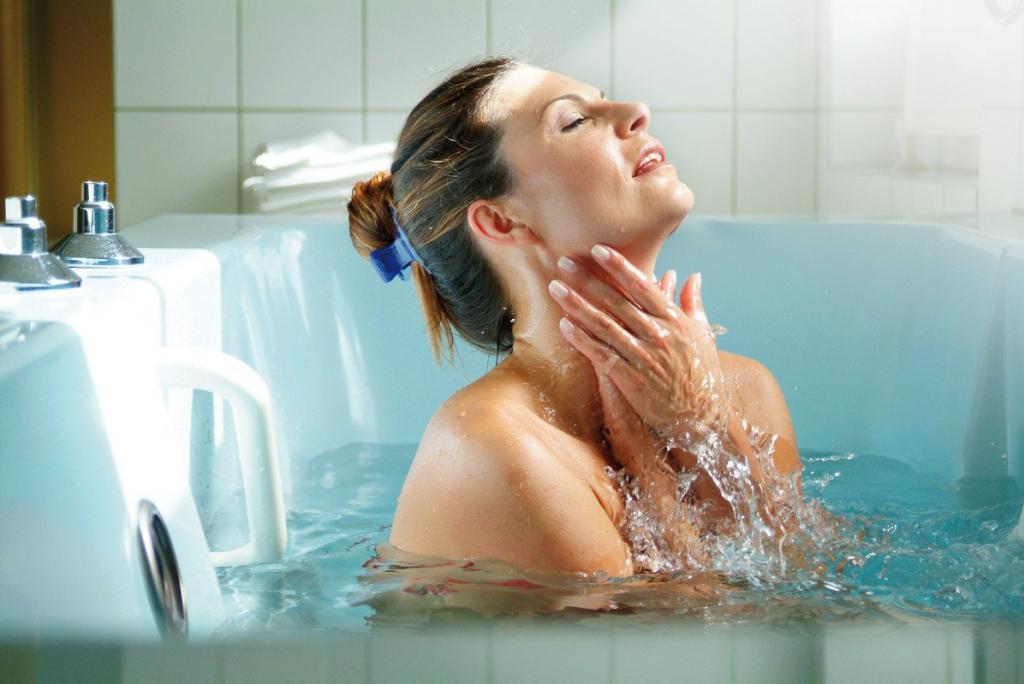 Прохладная ванна при температуре