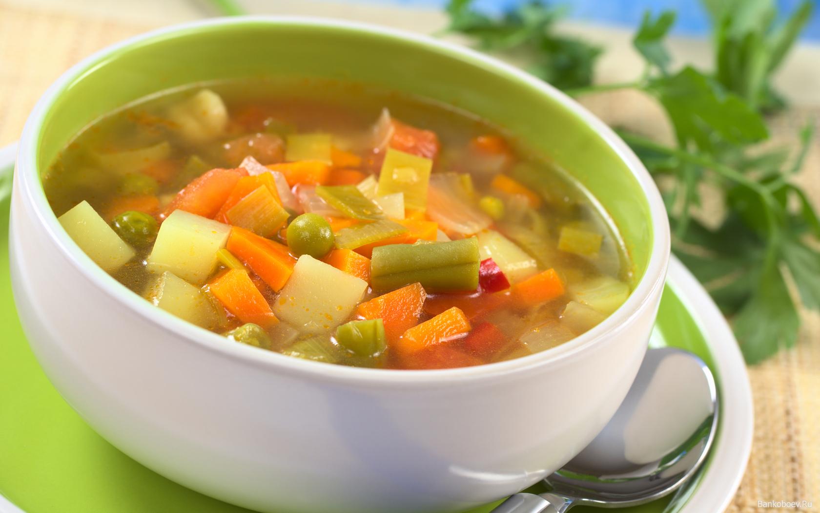 Легкий суп в меню при кисте печени