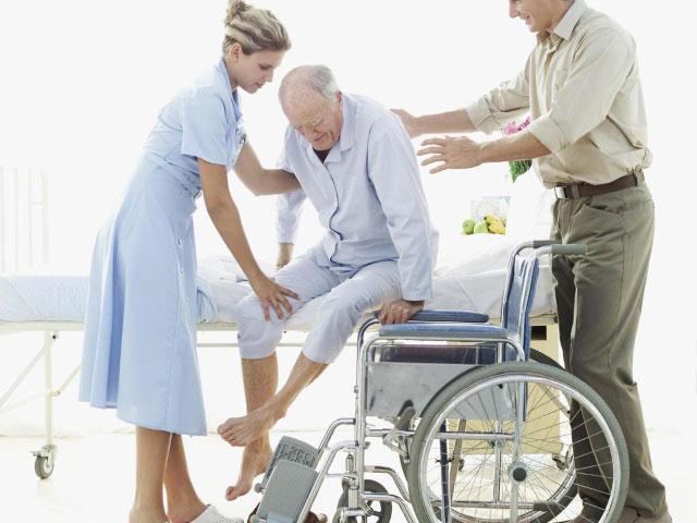 пациент неспособен к самостоятельному передвижению без специального устройства