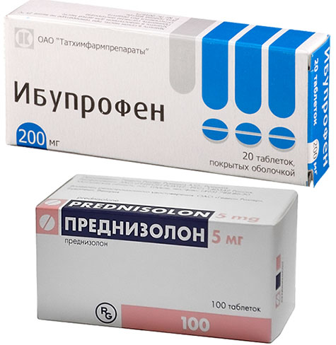 препараты Ибупрофен и Преднизолон