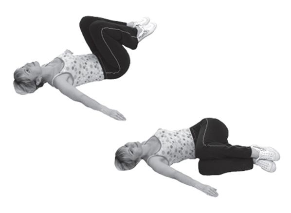 упражнение с согнутыми в коленях ногах