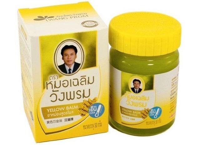 желтый бальзам с имбирем Ванг Пром