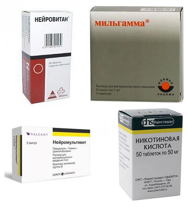 препараты витаминов группы В