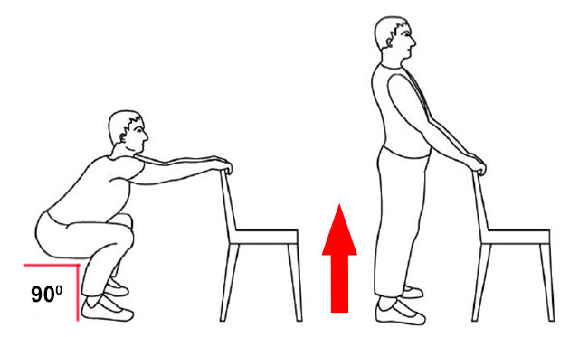 приседания у стула