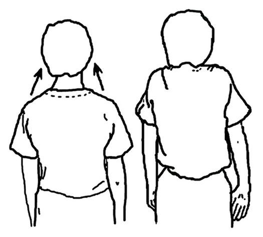 упражнение с поднятием и опусканием плеч