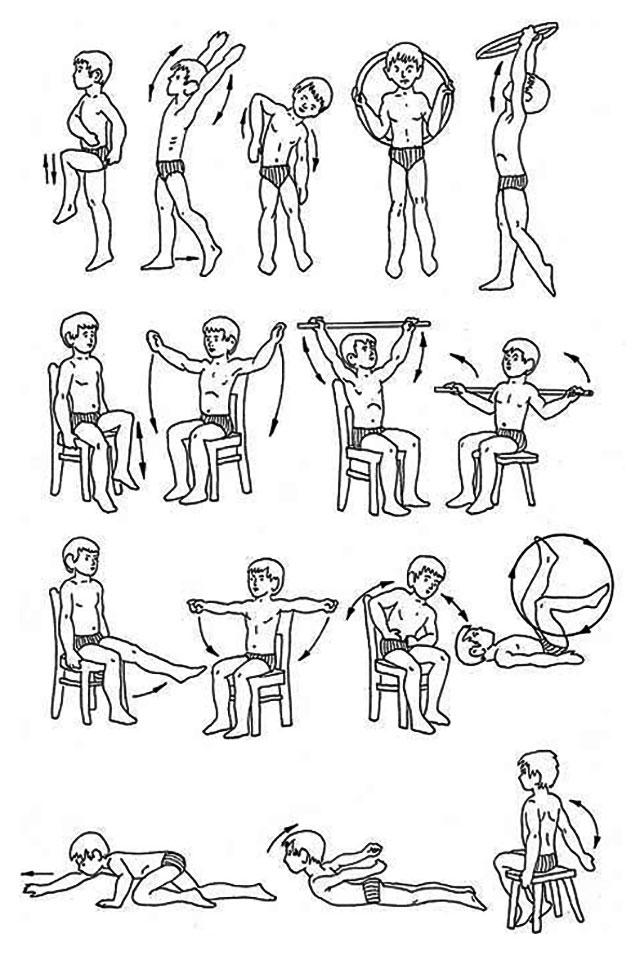 примеры упражнений ЛФК при болезни бехтерева