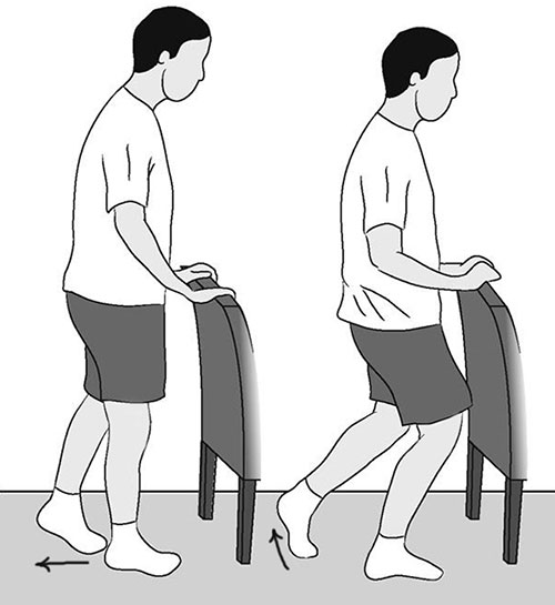 упражнение с опорой на спинку стула