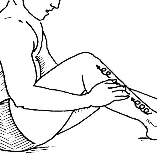 растирание ноги