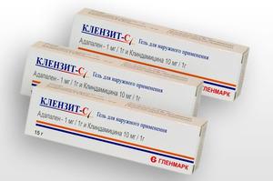 В состав препарата входят антибиотик Клиндамицин и адапален