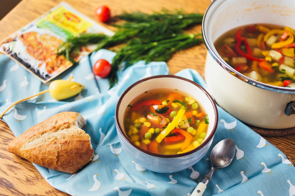 Рецепт овощного супа при гепатите А