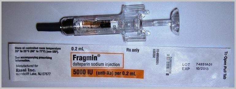Фрагмин лекарственная совместимость
