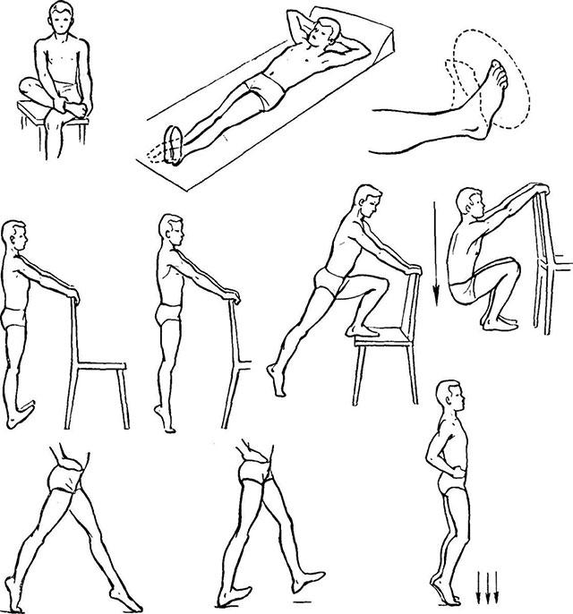 примеры упражнений для коленей