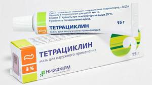 Негативное воздействие тетрациклиновой мази