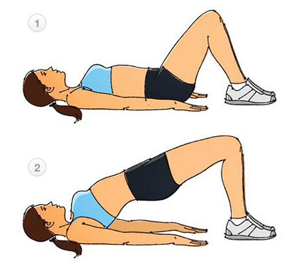 упражнение с приподниманием таза