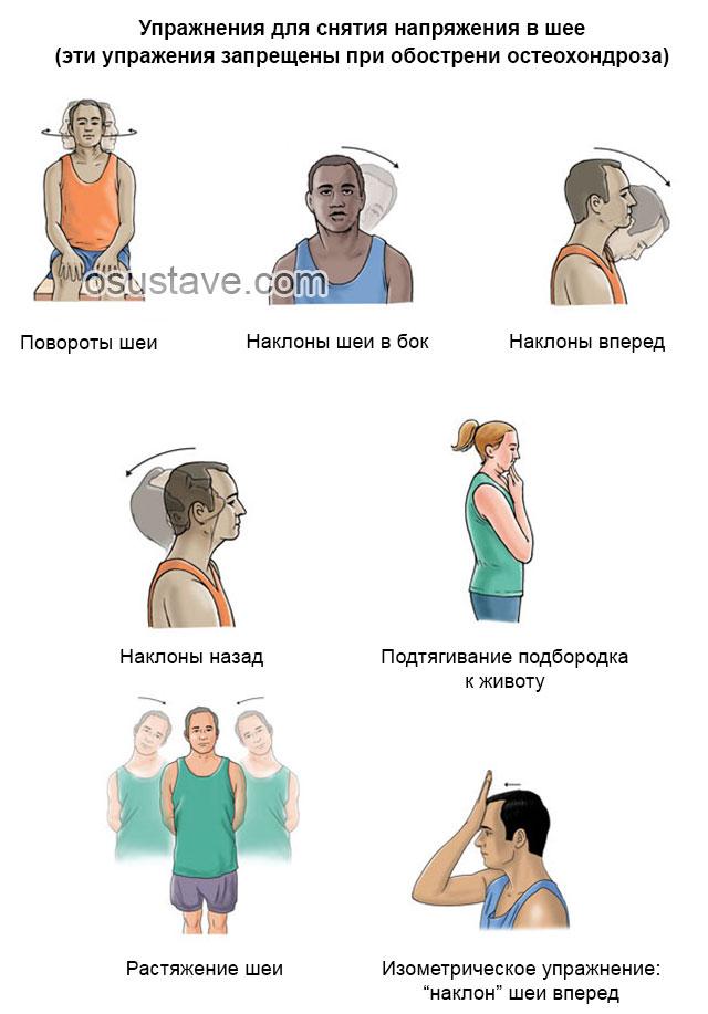 упражнения для снятия напряжения в шее