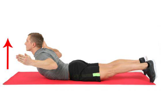 упражнение с подъемом лежа