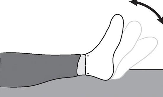 сгибание стопы