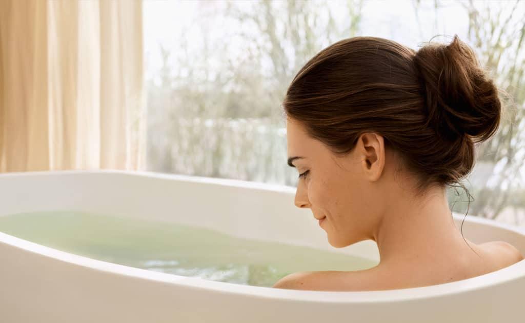 Прохладная ванна при высокой температуре