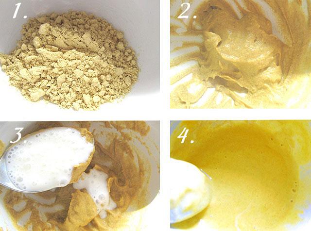 приготовление компресса с медом, горчицей и содой